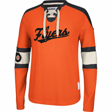 CCM Knit Crew Senior Long Sleeve Hockey Shirt - Philadelphia Flyers