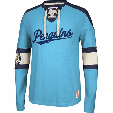 CCM Knit Crew Senior Long Sleeve Hockey Shirt - Pittsburgh Penguins