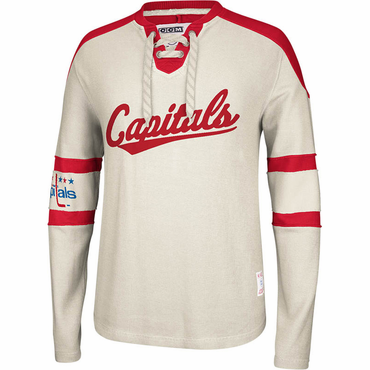CCM Knit Crew Senior Long Sleeve Hockey Shirt - Washington Capitals