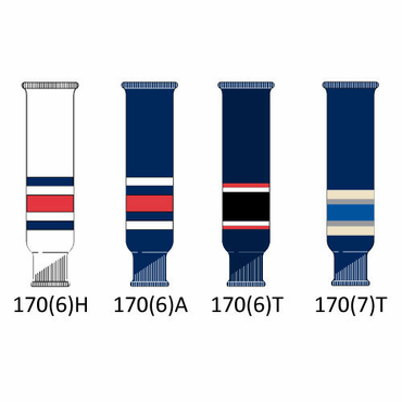 CCM NHL Team Senior Hockey Socks - Columbus Blue Jackets