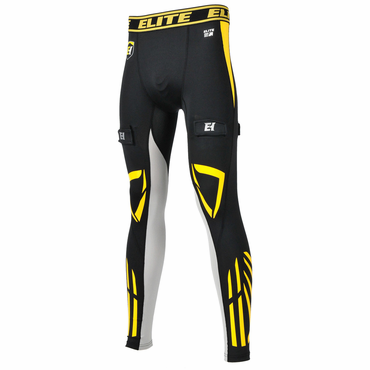 Elite Compression Gel Senior Performance Hockey Jock Pants - w/ Cup
