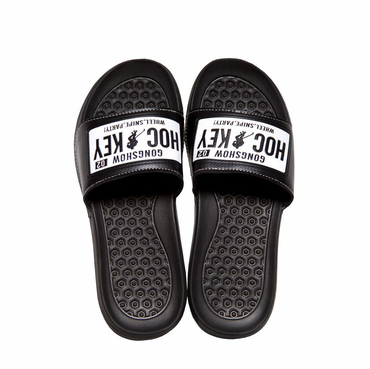Gongshow Mud Flaps Shower Sandals - Black/White - Senior