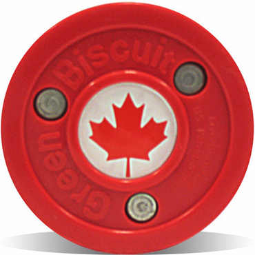 Green Biscuit Olympic Flag Practice Pucks - Canada