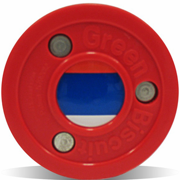 Green Biscuit Olympic Flag Practice Pucks - Russia