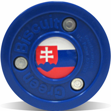 Green Biscuit Olympic Flag Practice Pucks - Slovakia