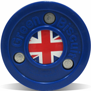 Green Biscuit Olympic Flag Practice Pucks - United Kingdom
