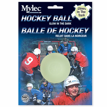 Mylec Glow in the Dark Hockey Ball - Carded