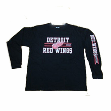 NHL Logo Senior Long Sleeve Hockey Shirt - Detroit Red Wings