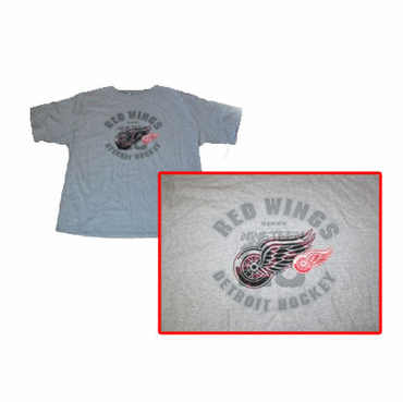 NHL Logo Senior Short Sleeve Hockey Shirt - Detroit Red Wings