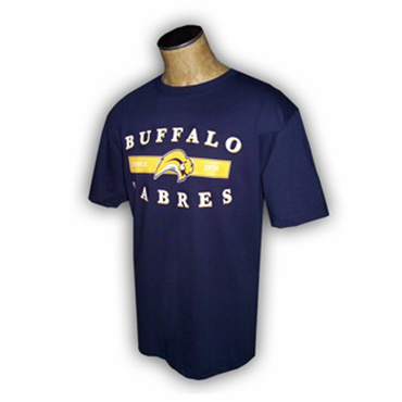 NHL Senior Short Sleeve Hockey Shirt - Buffalo Sabres - Navy