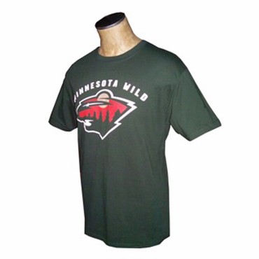 NHL Senior Short Sleeve Hockey Shirt - Minnesota Wild - Dark Green