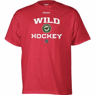 NHL Senior Short Sleeve Hockey Shirt - Minnesota Wild - Red