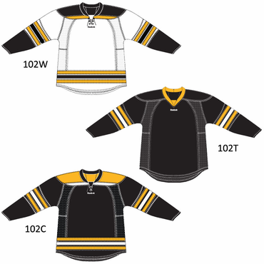 RBK 25P00 Junior NHL Edge Gamewear Hockey Jersey - Boston Bruins