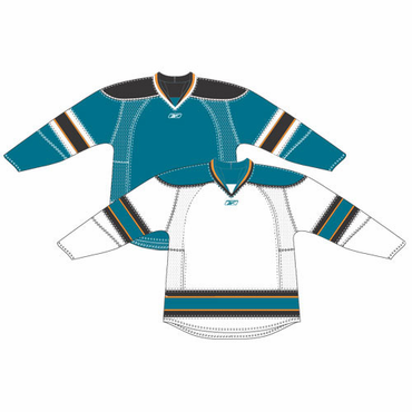RBK 25P00 Junior NHL Edge Gamewear Hockey Jersey - San Jose Sharks