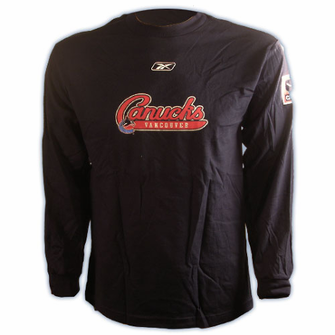 RBK 4777 Platinum Senior Long Sleeve Hockey Shirt - Vancouver Canucks