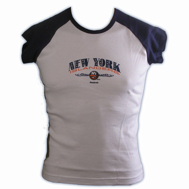 RBK 5033 Dazzled Womens Short Sleeve Hockey Shirt - New York Islanders
