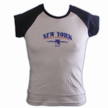 RBK 5033 Dazzled Womens Short Sleeve Hockey Shirt - New York Rangers