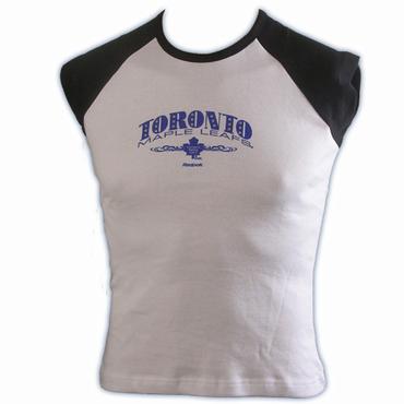 RBK 5033 Dazzled Womens Short Sleeve Hockey Shirt - Toronto Maple Leafs