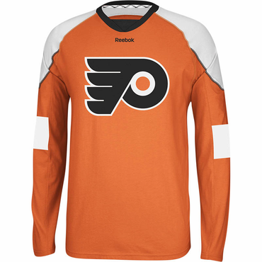 RBK Face Off Senior Long Sleeve Hockey Shirt - Philadelphia Flyers