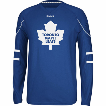 RBK Face Off Senior Long Sleeve Hockey Shirt - Toronto Maple Leafs