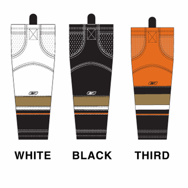 RBK SX100 NHL Edge Intermediate Hockey Socks - Anaheim Ducks