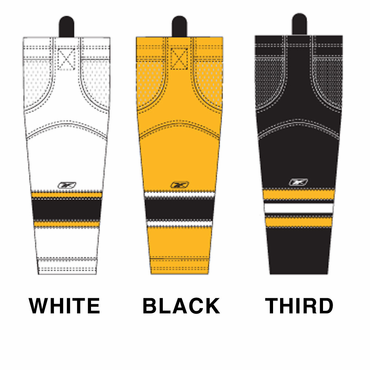 RBK SX100 NHL Edge Intermediate Hockey Socks - Boston Bruins