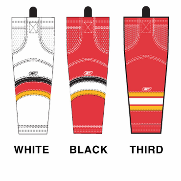 RBK SX100 NHL Edge Intermediate Hockey Socks - Calgary Flames