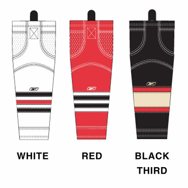 RBK SX100 NHL Edge Intermediate Hockey Socks - Chicago Blackhawks