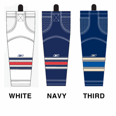 RBK SX100 NHL Edge Intermediate Hockey Socks - Columbus Blue Jackets