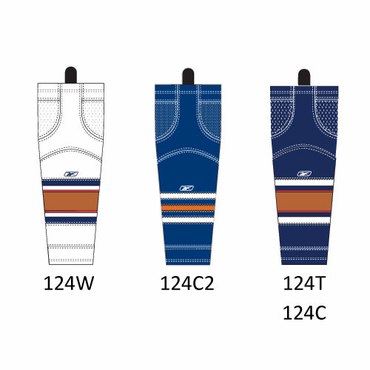 RBK SX100 NHL Edge Intermediate Hockey Socks - Edmonton Oilers