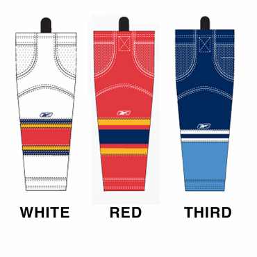 RBK SX100 NHL Edge Intermediate Hockey Socks - Florida Panthers