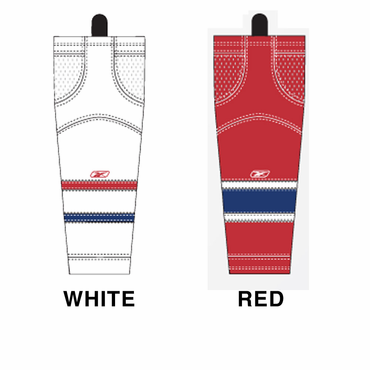 RBK SX100 NHL Edge Intermediate Hockey Socks - Montreal Canadiens