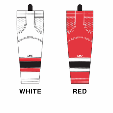 RBK SX100 NHL Edge Intermediate Hockey Socks - New Jersey Devils