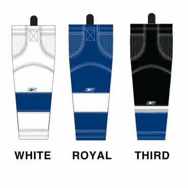 RBK SX100 NHL Edge Intermediate Hockey Socks - Tampa Bay Lightning