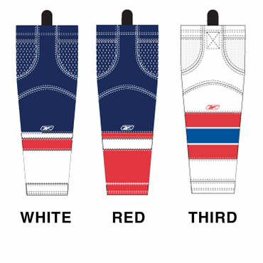 RBK SX100 NHL Edge Intermediate Hockey Socks - Washington Capitals