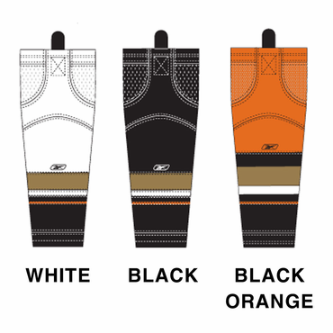 RBK SX100 NHL Edge Junior Hockey Socks - Anaheim Ducks