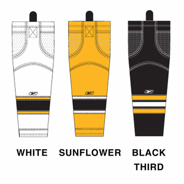 RBK SX100 NHL Edge Junior Hockey Socks - Boston Bruins