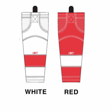 RBK SX100 NHL Edge Junior Hockey Socks - Detroit Red Wings