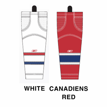 RBK SX100 NHL Edge Junior Hockey Socks - Montreal Canadiens