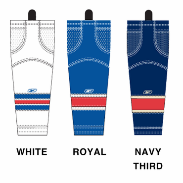 RBK SX100 NHL Edge Junior Hockey Socks - New York Rangers