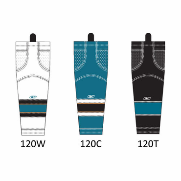RBK SX100 NHL Edge Junior Hockey Socks - San Jose Sharks