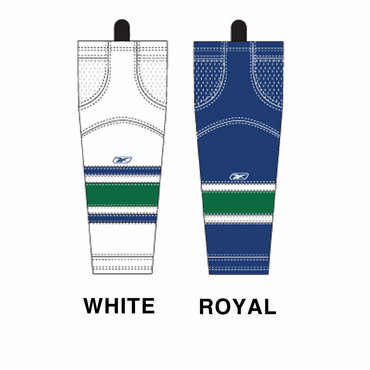 RBK SX100 NHL Edge Junior Hockey Socks - Vancouver Canucks