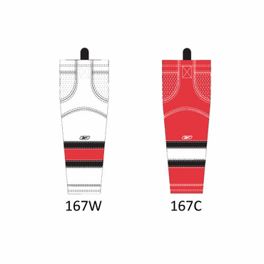 RBK SX100 NHL Edge Senior Hockey Socks - Carolina Hurricanes