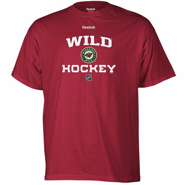 Reebok Authentic Progression Senior Short Sleeve Hockey Shirt - Minnesota Wild