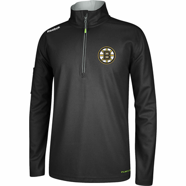 Reebok Center Ice Senior Hockey Quarter Zip Jacket - Boston Bruins