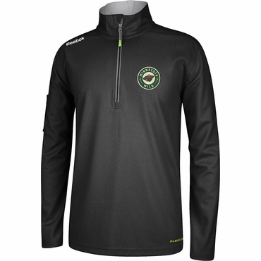 Reebok Center Ice Senior Hockey Quarter Zip Jacket - Minnesota Wild