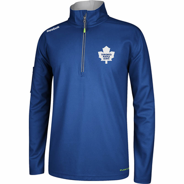Reebok Center Ice Senior Hockey Quarter Zip Jacket - Toronto Maple Leafs