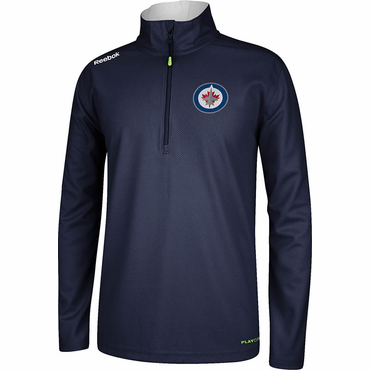 Reebok Center Ice Senior Hockey Quarter Zip Jacket - Winnipeg Jets