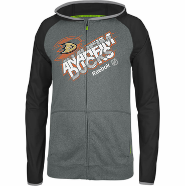 Reebok Center Ice TNT Senior Full Zip Hockey Hoody - Anaheim Ducks