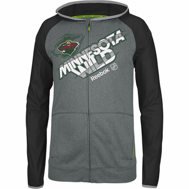 Reebok Center Ice TNT Senior Full Zip Hockey Hoody - Minnesota Wild
